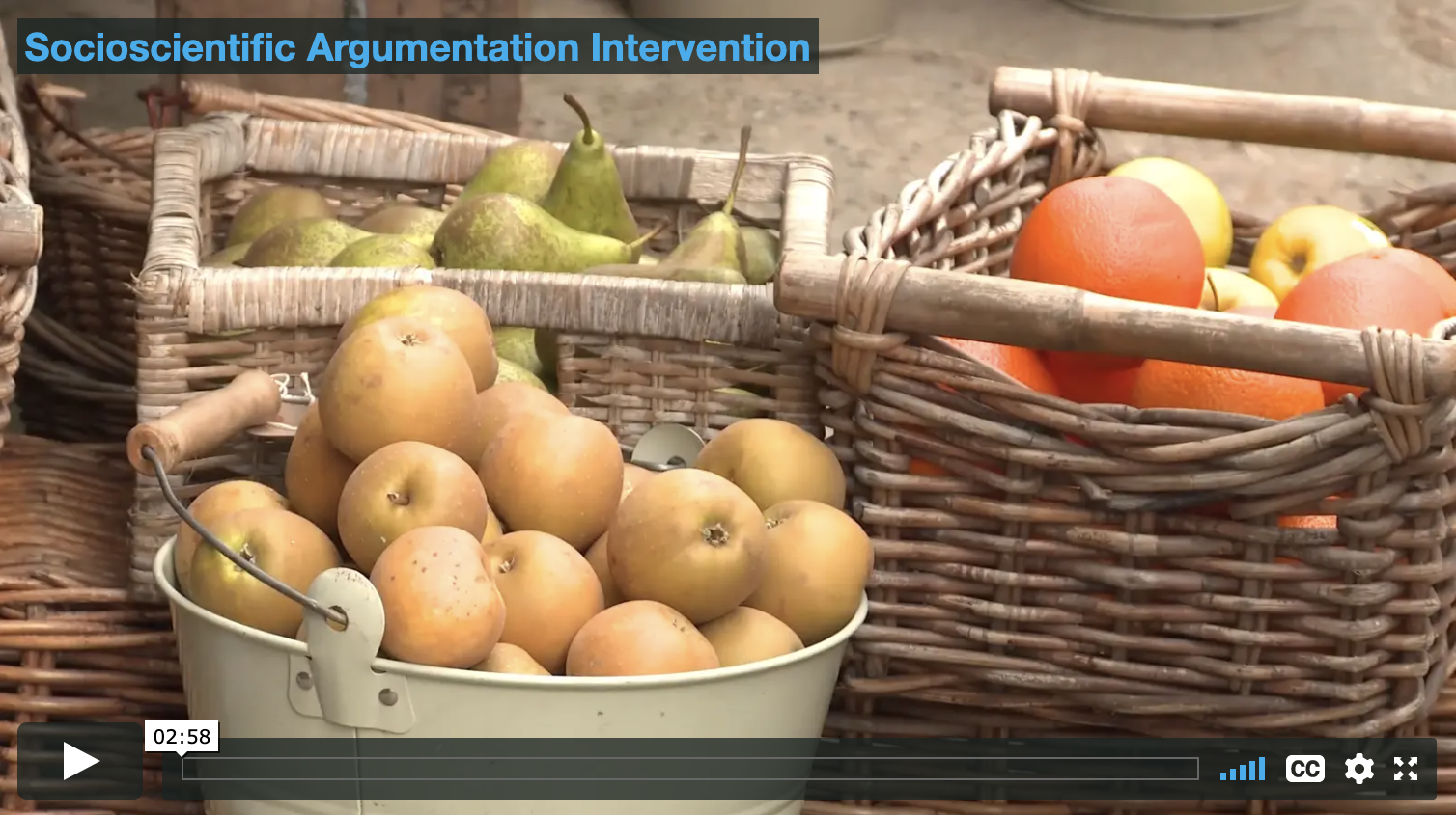 Socioscientific Argumentation Intervention